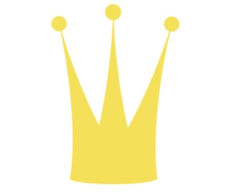 SVG Crown Cuttable File - INSTANT DOWNLOAD - for use with silhouette cameo, cricut, Sizzix, other machines