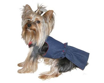 Female Dog Diapers-Denim Fabric in XX-Small
