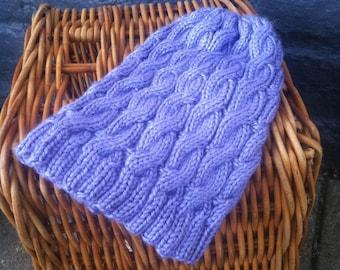 Purple Cable Hat