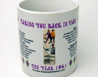 1961 Taking You Back In Time Coffee Mug