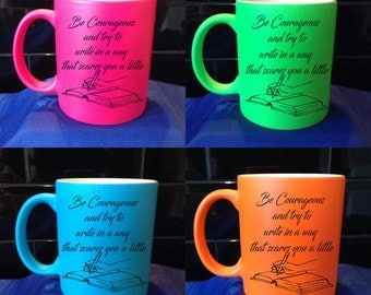 Personalised / Designed Neon Mug - Available in 4 Colours - Adult Humour - Style 78