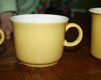 Vintage Yellow CUP Coffee Mug