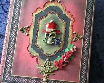 Red Gothic Rose  Journal