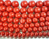 8mm-20mm Round Beads Red cinnebar loose beads Semiprecious Gemstone Bead Wholesale Beads Supply