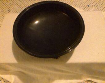 Vintage L E Smith Black Art Deco Footed bowl.
