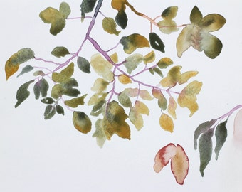 autumn leaves . original watercolor painting