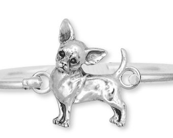 Chihuahua Bracelet Jewelry Sterling Silver Chihuahua Charms And Jewelry CHW2-HB