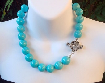 Chunky Turquoise Necklace. Turquoise Necklace. Western Necklace.