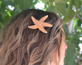 Starfish Hair Clip, Mermaid Hairpin, Beach Wedding Hair, Sugar Starfish Hairpin, Seashell Hair Clip, Shell Hairpin, Starfish Hairpin