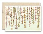 Garden of Garlands - Greeting Card - Bloom Voyage