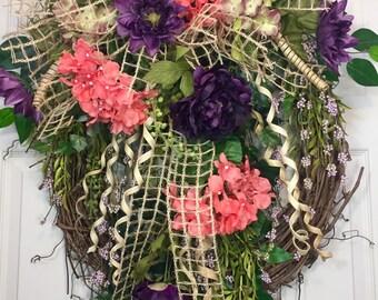 Everyday  Round Grapevine Wreath