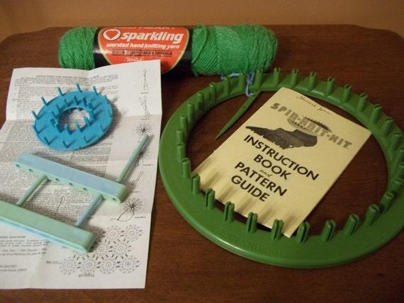Knitting Loom Pom Pom Maker : Spin knit kit round knitting loom pom maker by slazyb