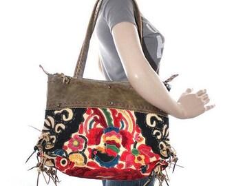 Applique Purse-Vintage Fabric - Thailand - Fair Trade (079P)