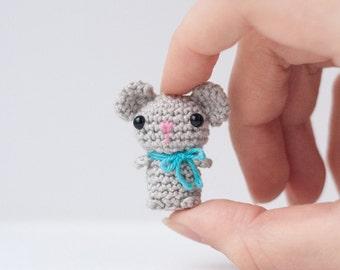 Tiny Mouse Amigurumi Plush / Miniature Crochet Toy