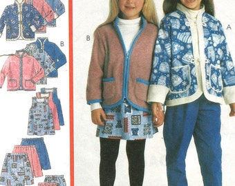9627 McCalls Sewing Pattern Girls Jacket Jumper Pants Skirt UNCUT Size 2 3 4
