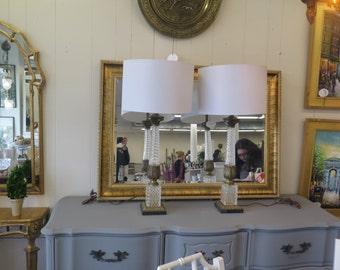 SOLD! Vintage Hollywood Regency Lamp Pair