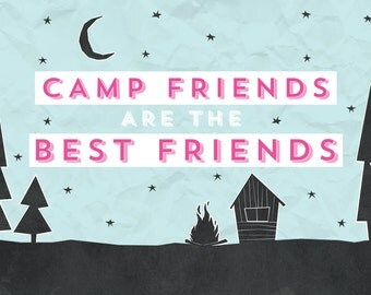 Camp Friends Are The Best Friends Postcard Pack