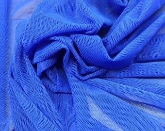 Royal Stretch Power Mesh Fabric By the Yard, Royal blue power mesh, Soft Sheer Drape Mesh Fabric, Stretch Mesh Fabric, Performance Mesh