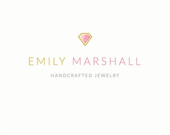 Jewelry Logo Design - Premade Boutique Logo Design, Diamond Logo Design, Photographer Logo Design, Blog Logo, Style, Modern Photography Logo