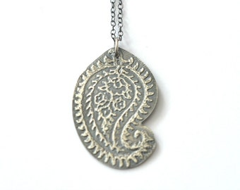 Handmade Sterling Silver Paisley Necklace