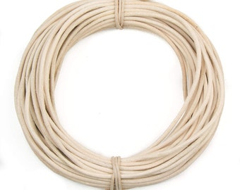 Rawhide Round Leather Cord 2mm, 10 Feet