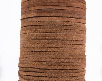 Brown Light Suede Leather Cord 3mm 10 Feet