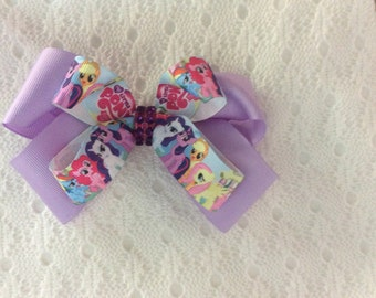 Handmade Lavendar My Little Pony Hair Bow