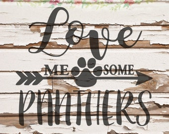Love Me Some Panthers SVG, PNG, DXF files, instant download