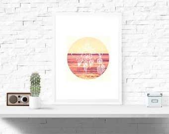 A4 Eleutheromania Beach Decor Print