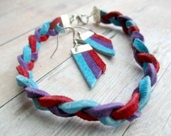 """Shop """"leather earrings"""" in Bracelets"""