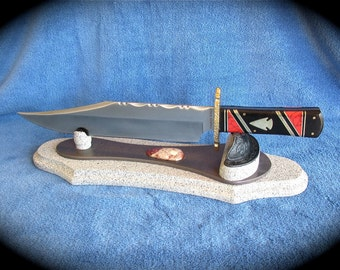Custom Knife - Arrowhead Bowie Knife - Southwestern - Native American