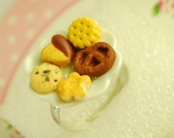 cookie plate ring-food jewelry