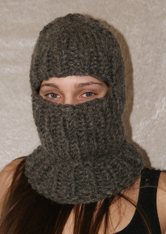 Chunky Balaclava Knitting Pattern : To order extra scratchy itchy chunky balaclava hat by Strickolino