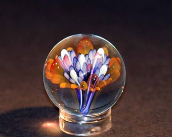 Flameworked Glass Sea Floral Marble