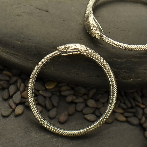 sterling silver ring ouroboros snake ring