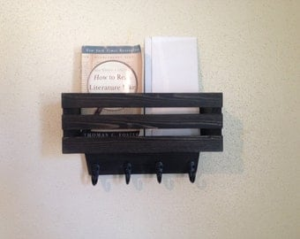 Rustic Hanging Organizer Mail And Key Holder
