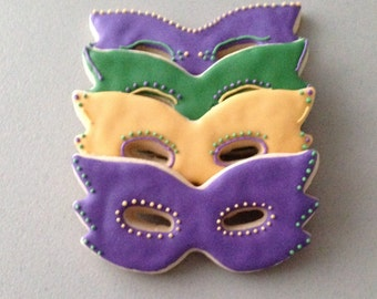 Mardi Gras Mask Sugar Cookies