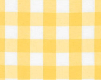 LAST PIECE - 1 yard and 5 inches  - End of Bolt - 1 Inch Plaid - Carolina Gingham in Sunflower Yellow by Robert Kaufman