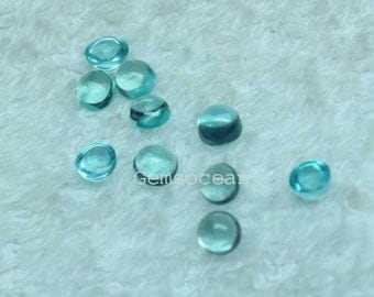 Lot of Stunning 20 Pieces Natural Apatite 3x3 MM Round Cabochon Loose Gemstone Calibrated