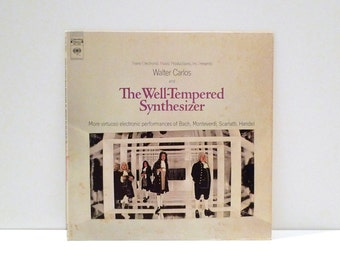 Walter Carlos Well Tempered Synthesizer 1969 Vintage Vinyl Record 60s Moog Classical Electronic Rock Wendy Composer Keyboard Piano Concerto