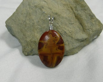 Noreena Jasper Wire Wrapped Pendant