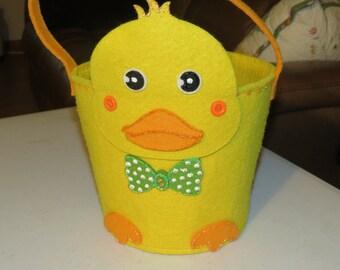 Hand Embellished Baby Chick Easter Basket