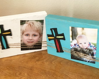 Picture frame, wood picture frame, rustic twine frame, rustic picture holder, photo prop, picture frame, cross frame, rustic decor,