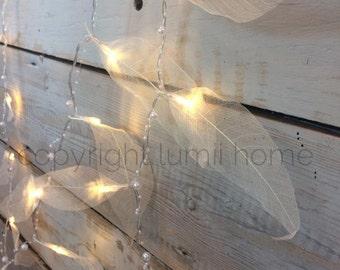NEW winter wonderland skeleton leaf and bead battery 20 LED string fairy lights christmas decoration wedding