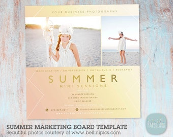 Summer Mini Session Photography Template - Photoshop - IH014- INSTANT DOWNLOAD