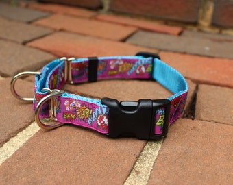 "SALE  1"" Sheila Combo Martingale/Quick Release Collar"