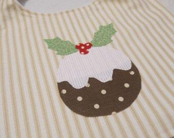 Cute Christmas budding baby bib