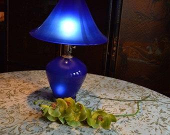 Spectacular Cobalt Blue Lamp