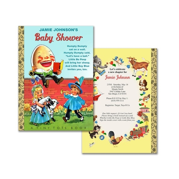 Humpty Dumpty Baby Shower Invitation