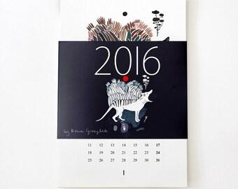 The original calendar for 2016.